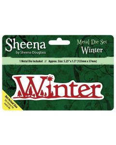 Sheena Douglass Christmas Sentiment Metal Die - Winter