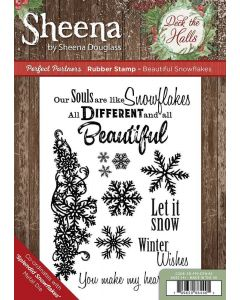 Sheena Douglass Perfect Partners Deck the Halls Rubber Stamp - Beautiful Snowflakes