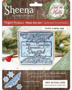 Sheena Douglass Perfect Partners Deck the Halls Metal Die - Splendid Snowflakes