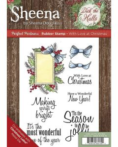 Sheena Douglass Perfect Partners Deck the Halls Rubber Stamp - With Love at Christmas