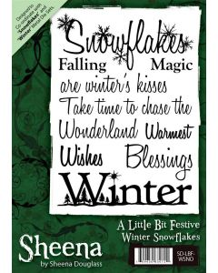 Sheena Douglass A6 Christmas Rubber Stamp - Winter Snowflakes