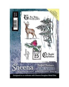 Sheena Douglass Perfect Partners Scenic Winter A5 Stamp Set - Wishes of the Season Stamp
