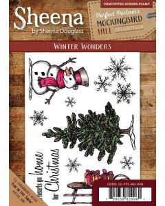 Sheena Douglass Perfect Partners Mockingbird Hill A6 Rubber Stamp Set - Winter Wonders