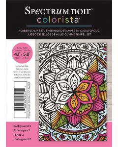 Spectrum Noir Colorista A6 Rubber Stamp - Background 3