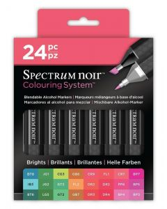 Colouring System by Spectrum Noir 24 Pen Set - Brights