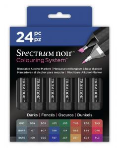 Colouring System by Spectrum Noir 24 Pen Set - Darks