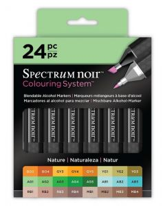 Colouring System by Spectrum Noir 24 Pen Set - Nature
