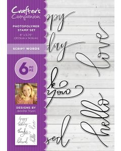 Crafter's Companion Photopolymer Stamp - Script Words