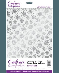 Crafter's Companion Snowflake Vellum - Silver