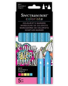 Spectrum Noir Colorista 5pk Markers - Set 6
