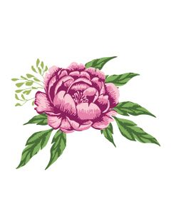 Crafter's Companion Photopolymer Stamp - Traditional Peony
