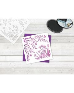 Sara Signature Enchanted Forest Stencil - Flowers and Vines