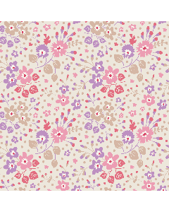 Tilda Plum Garden Fabric - Flower Confetti Sand