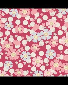 Tilda Plum Garden Fabric - Windflower Red