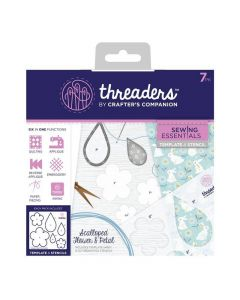 Threaders Sewing Essentials Template and Stencil - Scalloped Flower and Petal