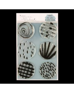 Mama Makes Textured Circle Collection A5 Photopolymer Stamp - Strokes and Swirls