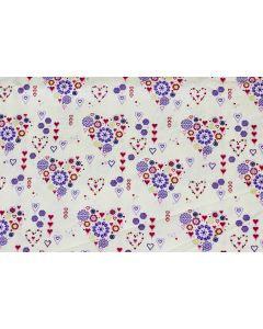 Threaders Loving Meadow Fabric - Heart Bouquet