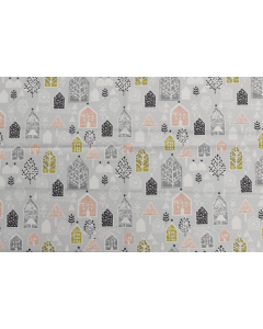 Threaders Merry and Bright Fabric - Snowy Village
