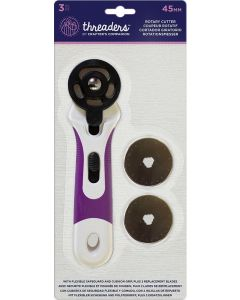 Threaders 45mm Rotary Cutter with Replacement Blades