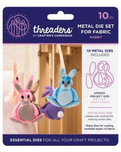 Threaders Animals Fabric Die - Rabbit