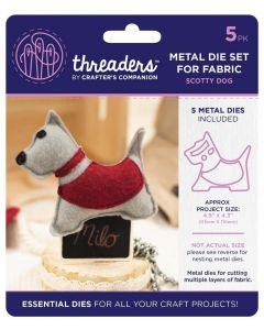 Threaders Animals Fabric Die - Scotty Dog