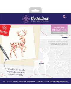 Threaders Woodland Stencil and Mask - Deer