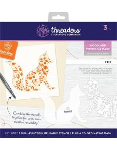 Threaders Woodland Stencil and Mask - Fox