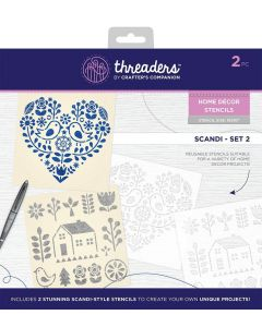 Threaders Home Décor Stencils - Scandi Set 2
