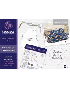 Threaders Hardware Kit - Kiss Clasp Clutch Bag
