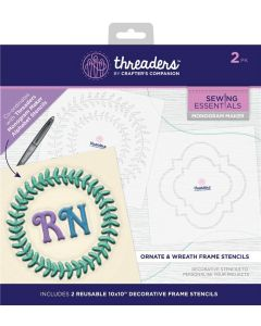 Threaders Monogram Maker Frames - Ornate and Wreath
