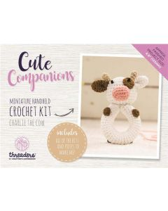 Threaders Cute Companions Crochet Kit - Charlie the Cow Miniature Handheld
