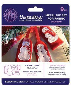 Threaders Snow Globes Fabric Die - Snowman