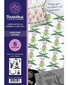 Threaders A5 Rubber Stamp Set - Highland Nature