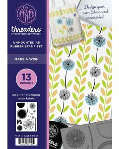Threaders A5 Rubber Stamp Set - Make a Wish