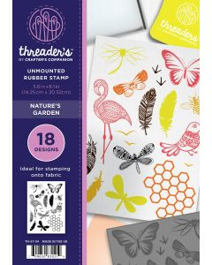 Threaders A5 Rubber Stamp Set - Nature's Garden