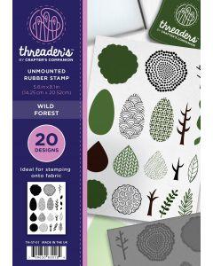 Threaders A5 Rubber Stamp Set - Wild Forest