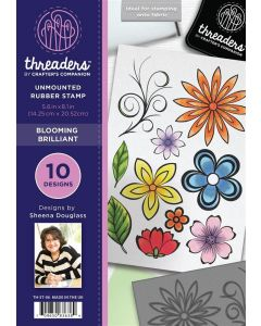 Threaders A5 Rubber Stamp Set - Blooming Brilliant