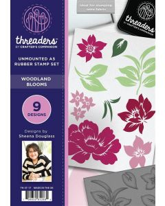 Threaders A5 Rubber Stamp - Woodland Blooms
