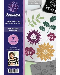 Threaders A5 Rubber Stamp - Woodland Florals