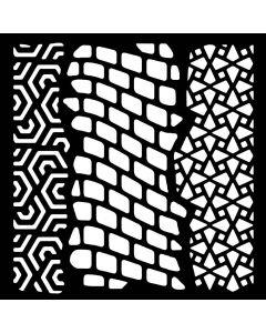 """Woodware 6"""" x 6"""" Stencil - Trio"""