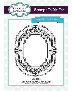Sue Wilson Pre-Cut Stamp - Vivian's Royal Wreath