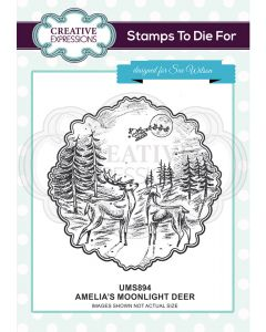 Creative Expressions Pre Cut Stamp - Amelia's Moonlight Deer