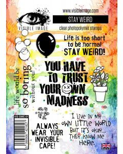 Visible Image Stay Weird Stamp Set