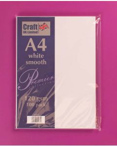 Craft UK A4 Smooth Paper 100 sheets - White