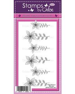 Stamps by Chloe - FEB043Fabulous Flower Border