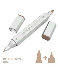 Illustrator by Spectrum Noir Single Pen - Red Brown
