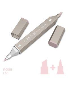 Graphic by Spectrum Noir Single Pens - Rose
