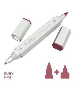 Illustrator by Spectrum Noir Single Pen - Ruby