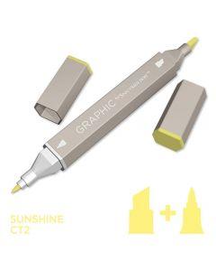 Graphic by Spectrum Noir Single Pens - Sunshine