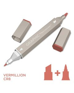 Graphic by Spectrum Noir Single Pens - Vermillion